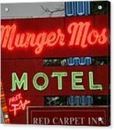 Route 66 - Munger Moss Motel Acrylic Print