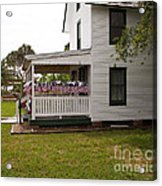 Ryckman House In Melbourne Beach Florida Acrylic Print by Allan  Hughes