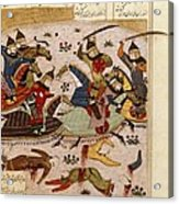 Shahnameh. The Book Of Kings. 16th C Acrylic Print