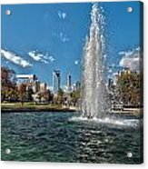 Skyline Of Uptown Charlotte North Carolina Acrylic Print