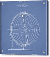 Terrestro Sidereal Globe Patent Drawing From 1886 Acrylic Print