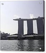 The Artscience Musuem And The Marina Bay Sands Resort In Singapore Acrylic Print
