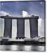 View Of The Towers Of The Marina Bay Sands In Singapore Acrylic Print