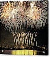 Wa, Seattle, Fireworks On July 4th Acrylic Print