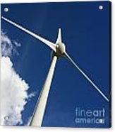 Wind Turbine Acrylic Print by Bernard Jaubert