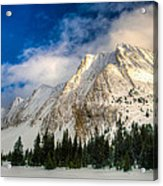 Winter In The Mountains Acrylic Print