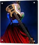 9091 Nude With Bass Guitar Acrylic Print