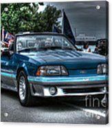 92 Mustang Gt Acrylic Print