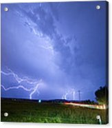 95th And Woodland Lightning Thunderstorm View Acrylic Print