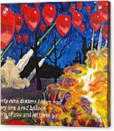 99 Red Balloons Acrylic Print