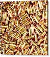 9mm Brass Ammo Acrylic Print