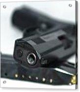 9mm Gun And Ammo Acrylic Print