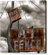 A-1 Fence Acrylic Print