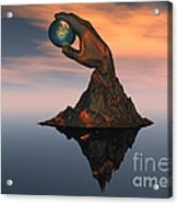 A 3d Conceptual Image Of The World Acrylic Print
