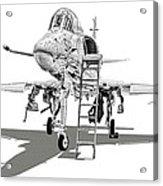 Ta-4j Skyhawk Acrylic Print