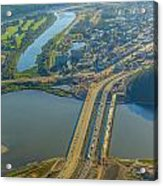 Fort Mcmurray From The Sky Acrylic Print
