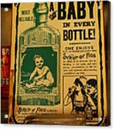 A Baby In Every Bottle Acrylic Print