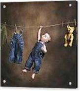A Baby On The Clothesline Acrylic Print