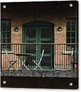 A Balcony On The River Aire Acrylic Print