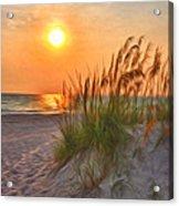 A Beach Sunset Acrylic Print