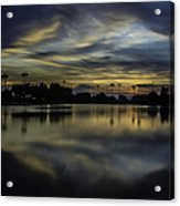 A Beautiful Sunset Over Phoenix Arizona. Acrylic Print