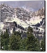 A Beautiful View Of Mount Ogden From Snowbasin 2/1 Pano Acrylic Print