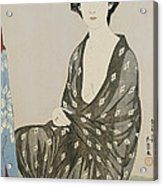 A Beauty In A Black Kimono Acrylic Print