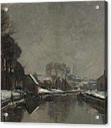 A Belgian Town In Winter Acrylic Print