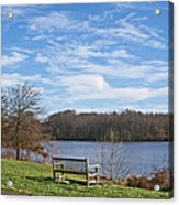 A Bench With A View Acrylic Print