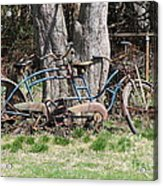 A Bicycle Built For Two Acrylic Print
