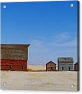 A Big Barn And Three Small Ones Acrylic Print