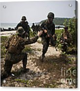 A Bilateral Boat Raid With U.s. Marines Acrylic Print