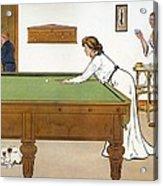 A Billiards Match Acrylic Print