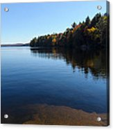 A Blue Autumn Afternoon - Algonquin Lake Tranquility Acrylic Print