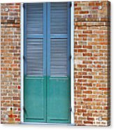 A Blue Door In New Orleans Acrylic Print