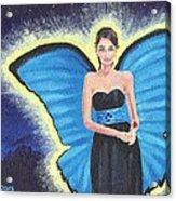 A Blue Fairy Acrylic Print by Glenn Harden