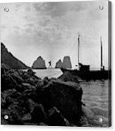 A Boat Docked At Capri Acrylic Print