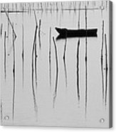 A Boat... In A Jungle Of Poles Acrylic Print