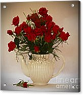A Bouquet Of Red Rose Tea Acrylic Print