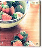 A Bowl Of Strawberries Acrylic Print