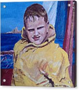 A Boy On A Boat Acrylic Print by Jack Skinner