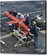 A Bqm-74e Drone Is Prepared For Launch Acrylic Print