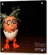 A Brave Eggman. Easter People Series Acrylic Print