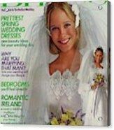 A Bride Wearing A Bill Schad Mendocino Dress Acrylic Print