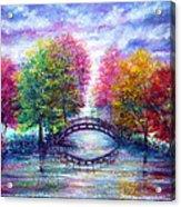 A Bridge To Cross Acrylic Print by Ann Marie Bone