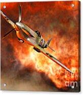A British Supermarine Spitfire Bursting Acrylic Print