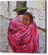A Bundle Buggy Swaddle - Peru Impression IIi Acrylic Print by Xueling Zou