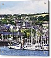 A Busy Harbour And Waterfrontkinsale Acrylic Print