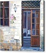 A Cafe In San Gimignano Tuscany Acrylic Print