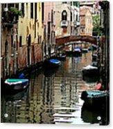 Calm Canal In Venice  Acrylic Print
